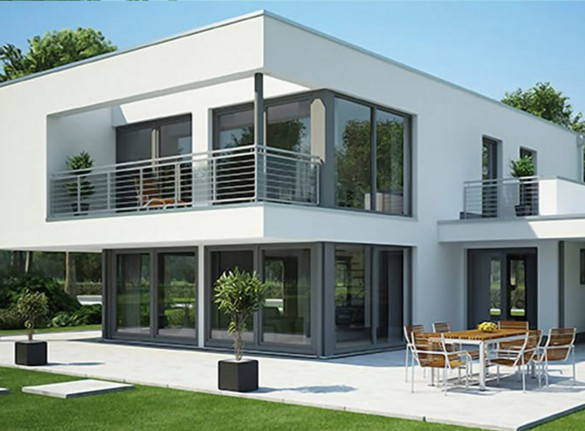 Modern villa with sliding elements