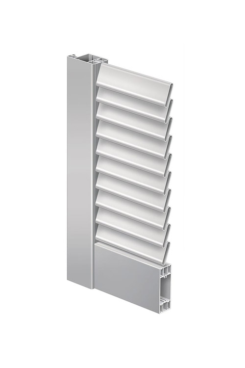 Folding shutter Elba with fixed slats