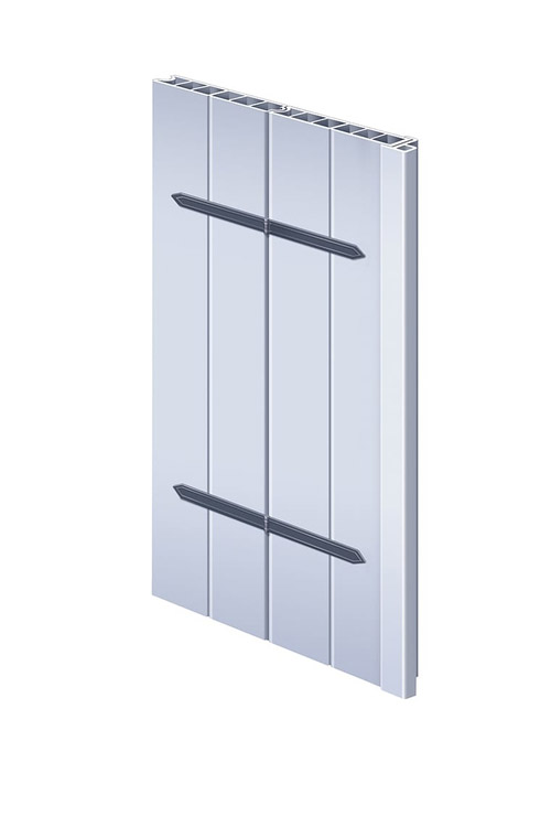 Hinged board shutter system Grado