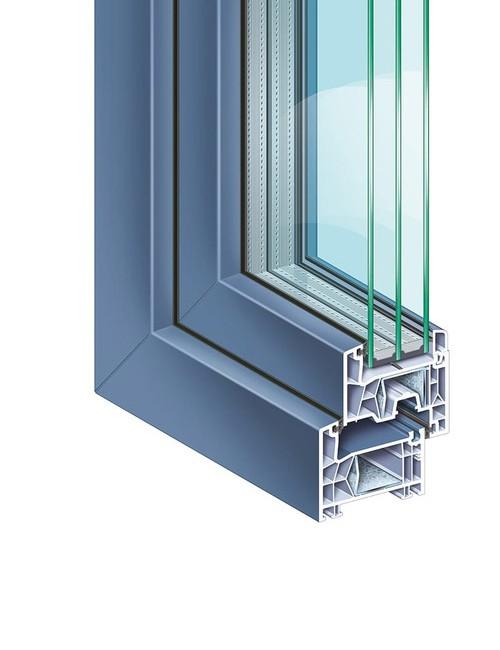KÖMMERLING 76 double seal standard proCoverTec ultramarine blue