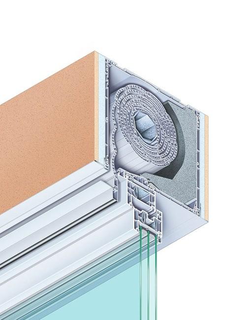 RolaPlus VariNova add-on box, plastered over on the outside and inside