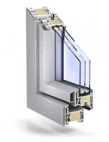 TROCAL 76 double seal AluClip Pro passive house brushed stainless steel