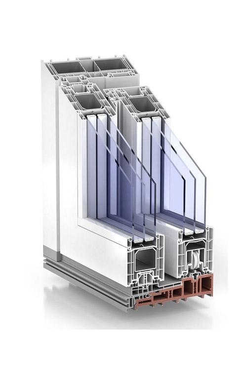TROCAL PremiDoor 88 standard external glazing White