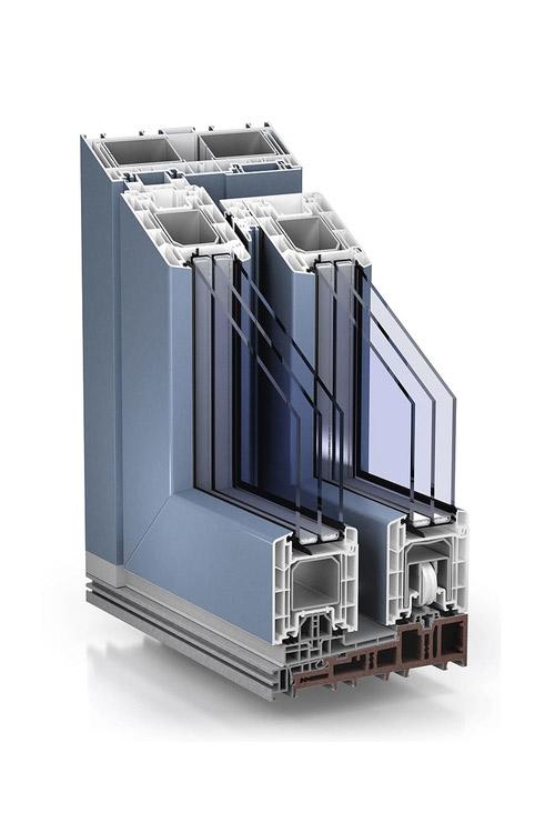TROCAL PremiDoor 88 standard proCoverTec full cover Pigeon blue