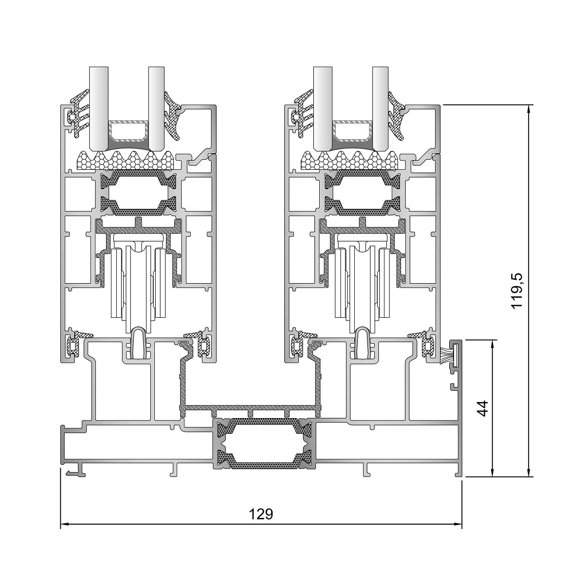 Inoform-F130-Guide-section-drawing