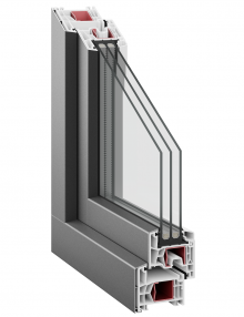 Kommerling 76 AD AluClip triple glazing