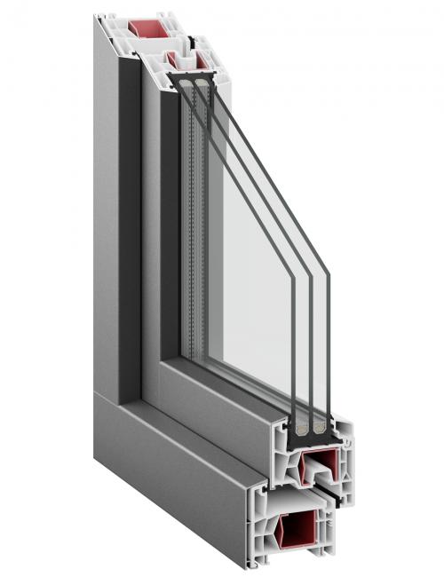 Kommerling 76 AD AluClip triple glazing