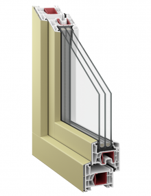 Kommerling 76 AD Classic triple glazing aluclip - RAL 1000