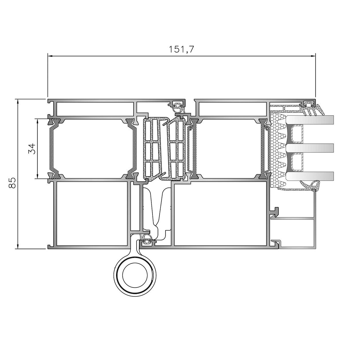 Inoform-F85-door-Frame-section