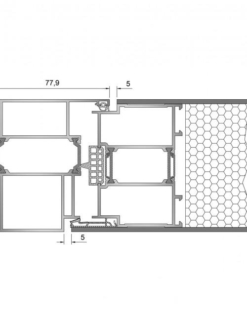 Inoform-F90-Pivot-Door-Side-section